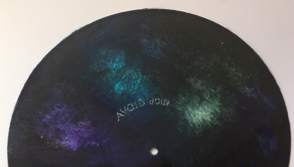 acrylic on the record